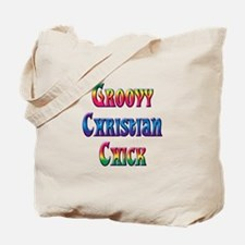 Groovy Christian Chick Tote Bag