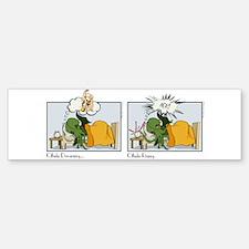 Cthulhu Dreaming and Rising Bumper Bumper Bumper Sticker