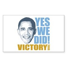 Yes We Did VICTORY Rectangle Decal