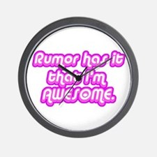 Awesome Rumor Wall Clock