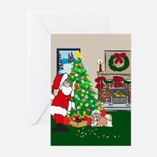Deck The Halls Shih Tzu Greeting Cards (Pk of 20)