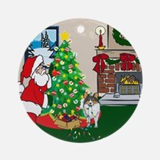 Deck The Halls Sheltie Ornament (Round)