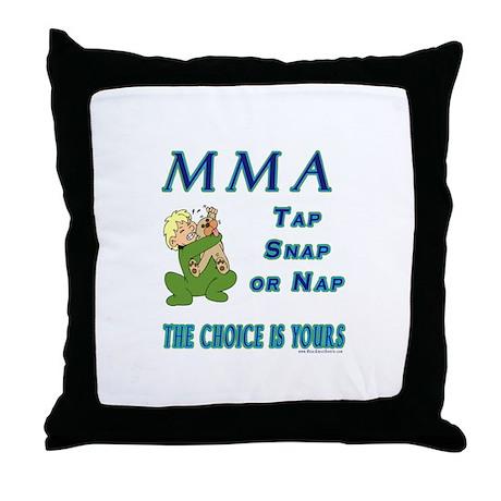 MMA Teddy Bear Throw Pillow