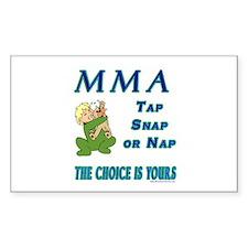 MMA Teddy Bear Rectangle Decal