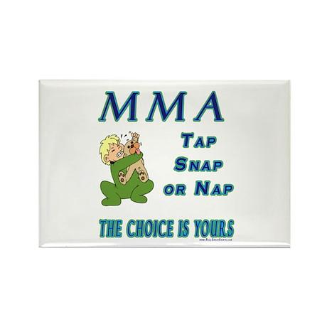 MMA Teddy Bear Rectangle Magnet