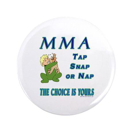 """MMA Teddy Bear 3.5"""" Button (100 pack)"""