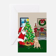 Deck The Halls Shar-pei Greeting Card