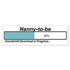 Download Nanny to Be Bumper Bumper Sticker