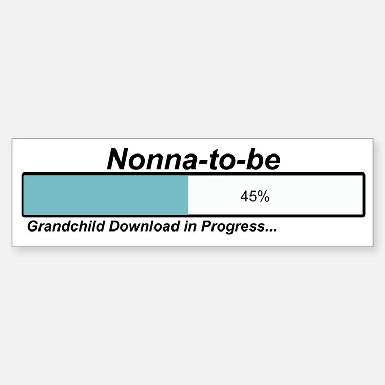 Download Nonna to Be Bumper Bumper Bumper Sticker