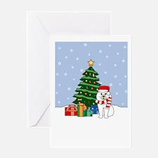 Samoyed Howling Holiday Greeting Card