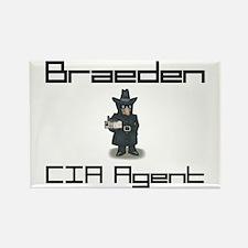 Braeden - CIA Agent Rectangle Magnet