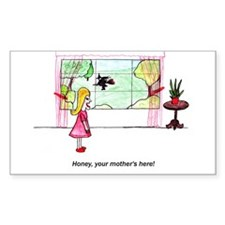 Mother in law witch. Rectangle Decal