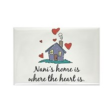 Nani's Home is Where the Heart Is Rectangle Magnet