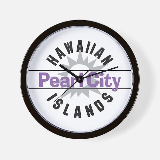 Pearl City Oahu Hawaii Wall Clock