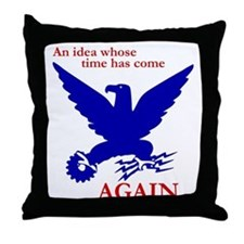 New Deal Eagle Throw Pillow