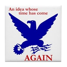 New Deal Eagle Tile Coaster