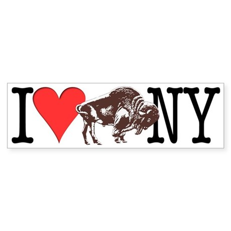 Love Buffalo Bumper Sticker (10 pk)