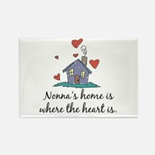 Nonna's Home is Where the Heart Is Rectangle Magne