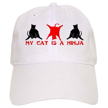 NINJA CAT T-SHIRT MY CAT IS A Cap
