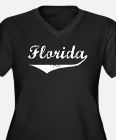 Florida Women's Plus Size V-Neck Dark T-Shirt
