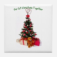 Our 1st Christmas Together Tile Coaster