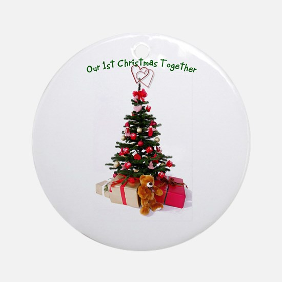 Our 1st Christmas Together Ornament (Round)