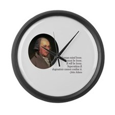 John Adams Large Wall Clock