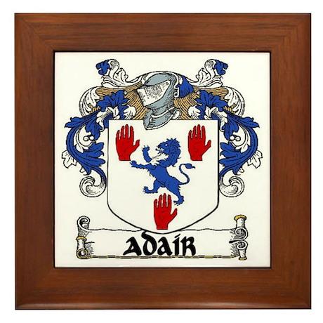 Adair Coat of Arms Framed Tile