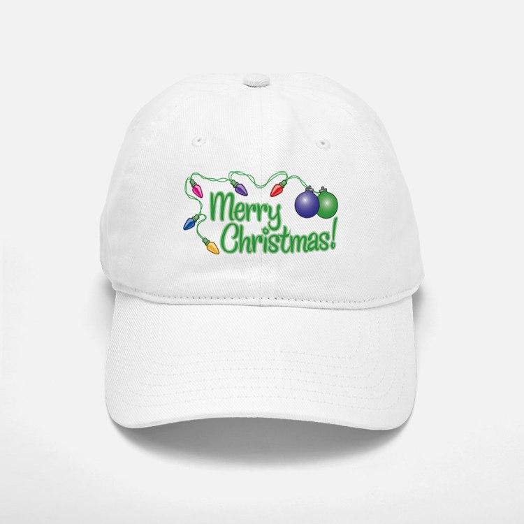 MERRY CHRISTMAS! (Lights) Baseball Baseball Cap