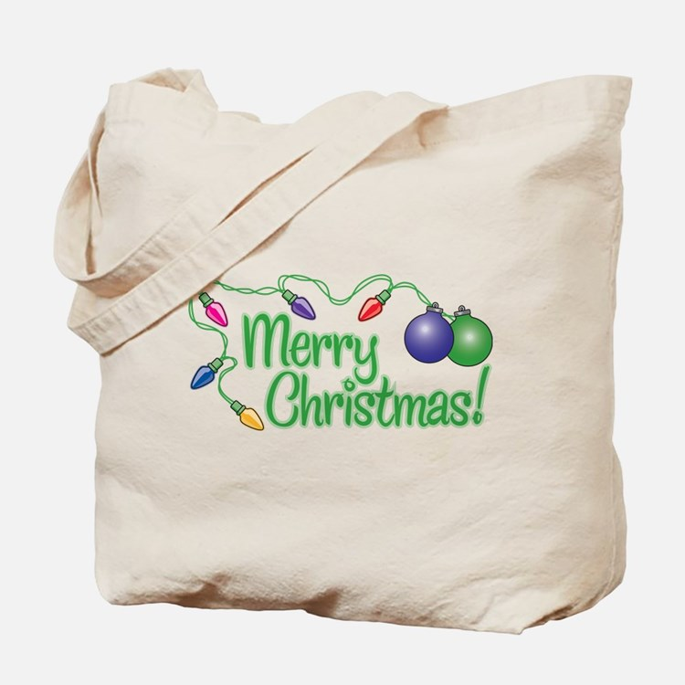 Merry christmas tote bags beach canvas