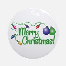 MERRY CHRISTMAS! (Lights) Ornament (Round)
