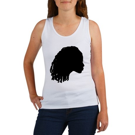 Woman with Dreds Women's Tank Top