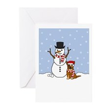Cattle Dog Happy Holiday Greeting Cards (Pk of 20)