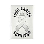 Lung Cancer Survivor Rectangle Magnet (100 pack)