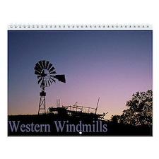 Western Windmills Wall Calendar