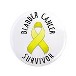 """Bladder Cancer Survivor 3.5"""" Button (100 pack)"""