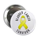 """Bladder Cancer Survivor 2.25"""" Button (10 pack)"""