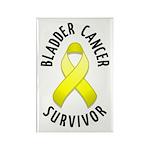 Bladder Cancer Survivor Rectangle Magnet