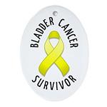 Bladder Cancer Survivor Oval Ornament