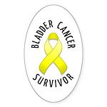 Bladder Cancer Survivor Oval Sticker (10 pk)