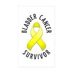 Bladder Cancer Survivor Rectangle Sticker 10 pk)