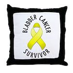 Bladder Cancer Survivor Throw Pillow