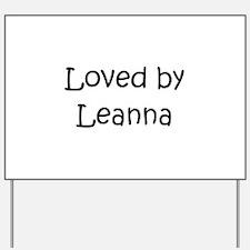 Cute Leanna Yard Sign