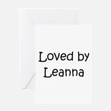 Unique Leanna Greeting Card