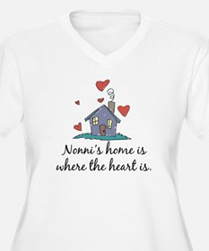 Nonni's Home is Where the Heart Is T-Shirt