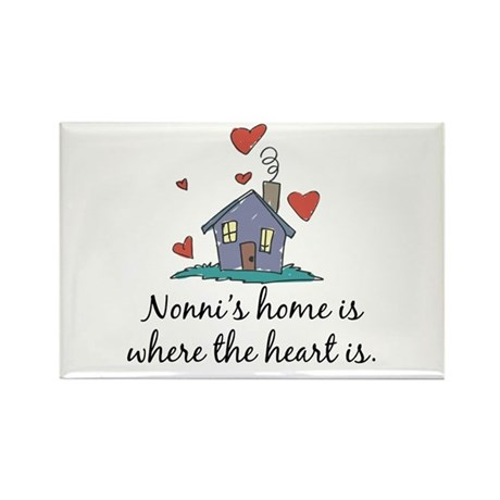 Nonni's Home is Where the Heart Is Rectangle Magne