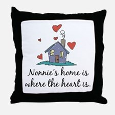 Nonnie's Home is Where the Heart Is Throw Pillow