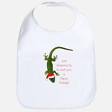Santa Lizard Bib