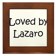 Unique Lazaro Framed Tile