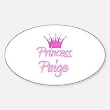 Princess Paige Oval Decal